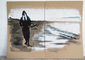 Tusche auf Karton, 2020, ca. 114 x 134 cm, verkauft