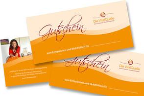 Geschenk-Gutscheine für Shiatsu-Behandlungen und Aromaölmassagen