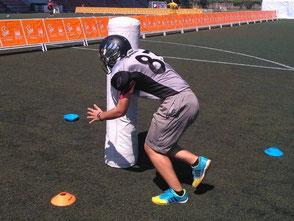 Equipo tackle júnior Santiago Black Ravens Fútbol Americano