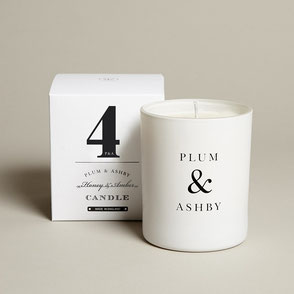 natural honey and amber candle plum and ashby