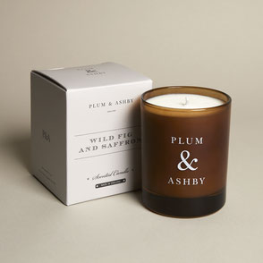 plum & ashby natural candle wild fig and saffron