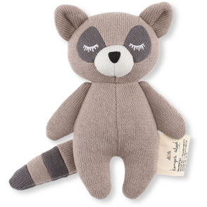 organic cotton baby toy racoon konges slojd