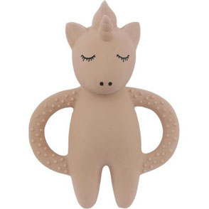 natural rubber teeth soother unicorn konges slojd