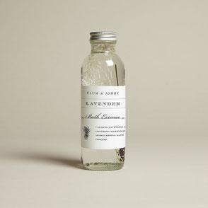 natural lavender bath essence plum & ashby