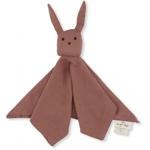 Konges Slojd organic cotton sleepy rabbit snuggle toy baby