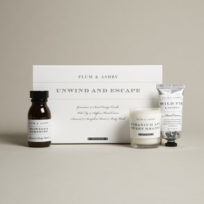 plum & ashby natural giftset unwind and escape