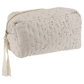 Konges Sløjd organic cotton quilted toiletry bag etoille