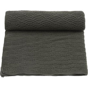 organic blanket pointelle green konges slojd