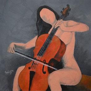 peinture musicien, peinture violoncelle, tableau musicien,  tableau violoncelle, toile musicien,  tableau musiciens, peinture musiciens,  tableau femme violoncelle,  tableau violoncelliste
