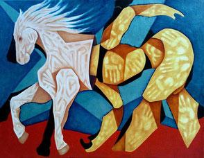 peinture cheval - cheval fantastique - peinture cheval a vendre - toile cheval - oeuvre d'art cheval - cheval dans l'art - peinture cheval moderne - cheval peinture contemporaine - peinture cheval abstrait - tableau cheval - toile cheval peinture