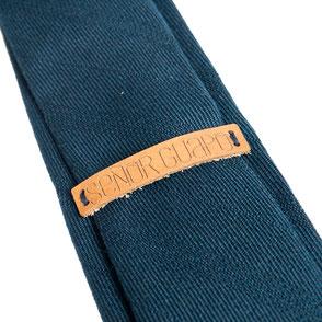 Smalle stropdas Senor Guapo marine blauw modern