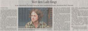 Zeitungsartikel zur Lesebühne Kunstloses Brot in der Leipziger Volkszeitung
