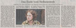 Zeitungsartikel zu Jan Lindner in der Leipziger Volkszeitung