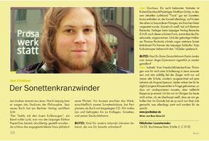 Zeitungsartikel zu Autor Jan Lindner im Blitz! Leipzig