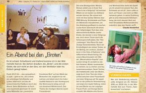 Zeitungsartikel zur Lesebühne Kunstloses Brot im Zeitpunkt Magazin Leipzig