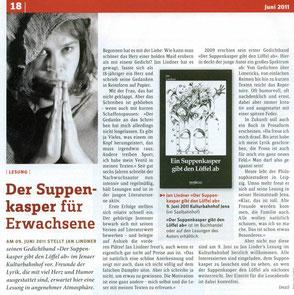 Zeitungsartikel zu Jan Lindner im Stadtmagazin 07 Jena
