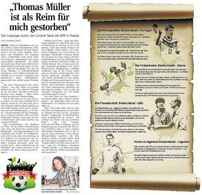 WM-Sonette von Jan Lindner zur Fußball Weltmeisterschaft 2014 in der Leipziger Volkszeitung