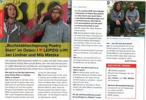 Zeitungsartikel zum Topic Slam mit Nils Matzka im Zeitpunkt Magazin Leipzig