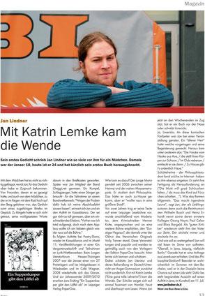 Zeitungsartikel zu Jan Lindner im Blitz! Thüringen