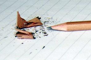 Angespitzter Bleistift Notizblock