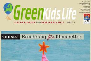 Teil des Titels der Broschüre GreenKids life Ernährung