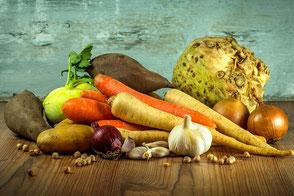 Gemüse und Hülsenfrüchte