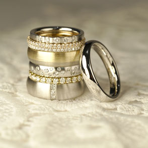 Trauringe und Eheringe in Gold und Platin mit Diamant und ohne Stein