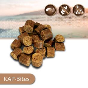 KAP-Snacks kaltgepresste Hundesnacks Bites, ohne Zucker, getreidefrei