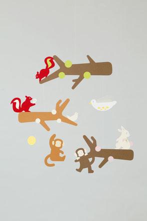 動物のモビール