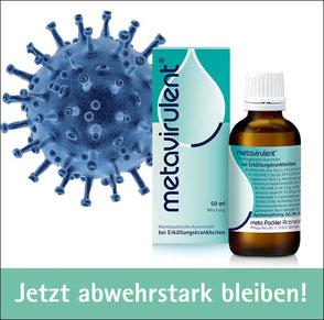 Virus und Packshot metavirulent - Jetzt abwehrstark bleiben