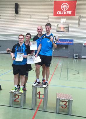 Siegerehrung Herrendoppel 2. Platz Matthias Kroll + Timo Watzka