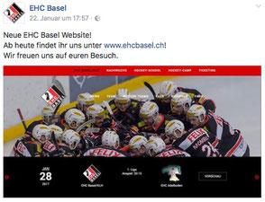 Homepage EHC Basel