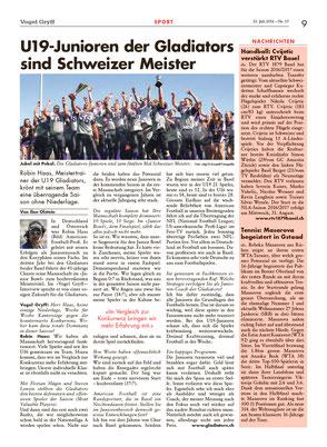 Zeitung Vogel Gryff 15/2016