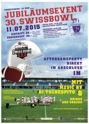 offizielles SWISSBOWL 2015 - Plakat
