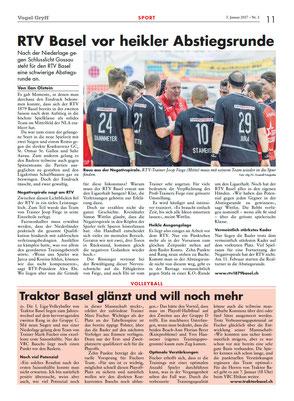 Zeitung Vogel Gryff 01/2017