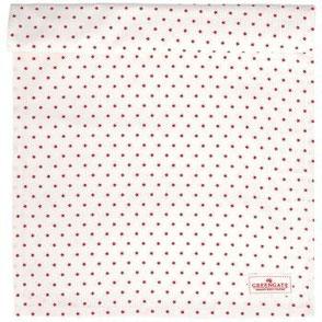 greengate tischdecke mit kleinen roten sternen
