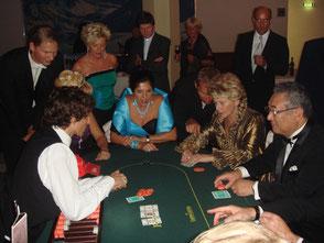 会場に特設されたカジノで