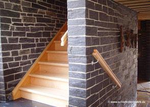 Schiefer Treppe Innenausbau