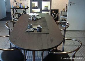 Ovale Tischplatte Schiefer