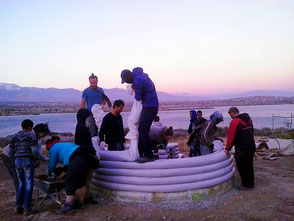 workshop construction éco-dome superadobe maroc