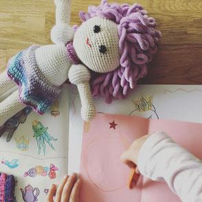 LOOP BABY - Puppe Paulina lila