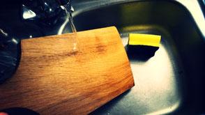 Reinigung Holzbrettchen