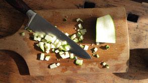 Holzbrett in der Küche