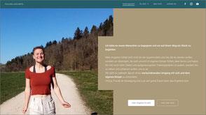 Foto der Homepage von Franciska Carla Bährle