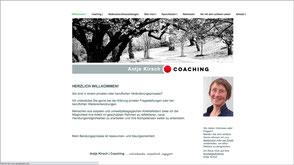 Foto der Homepage von Antje Kirsch