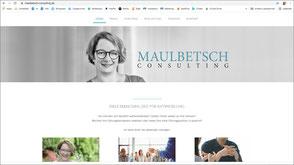 Foto der Homepage von Melanie Maulbetsch-Heidt