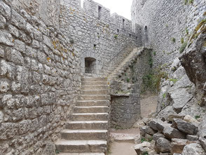 Stairs leading to the dwelling of the governor