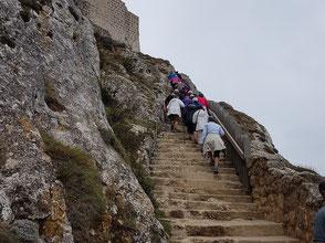 In den Fels gehauene Treppe von Saint Louis.