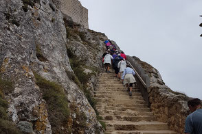 Stairs cut into the rock