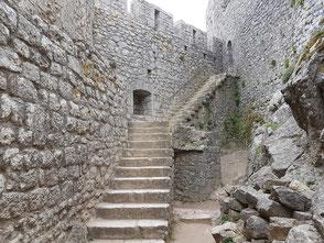 Treppe zur Gouverneurswohnung